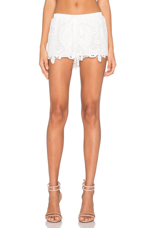 Alexis Lini Short in White Crochet