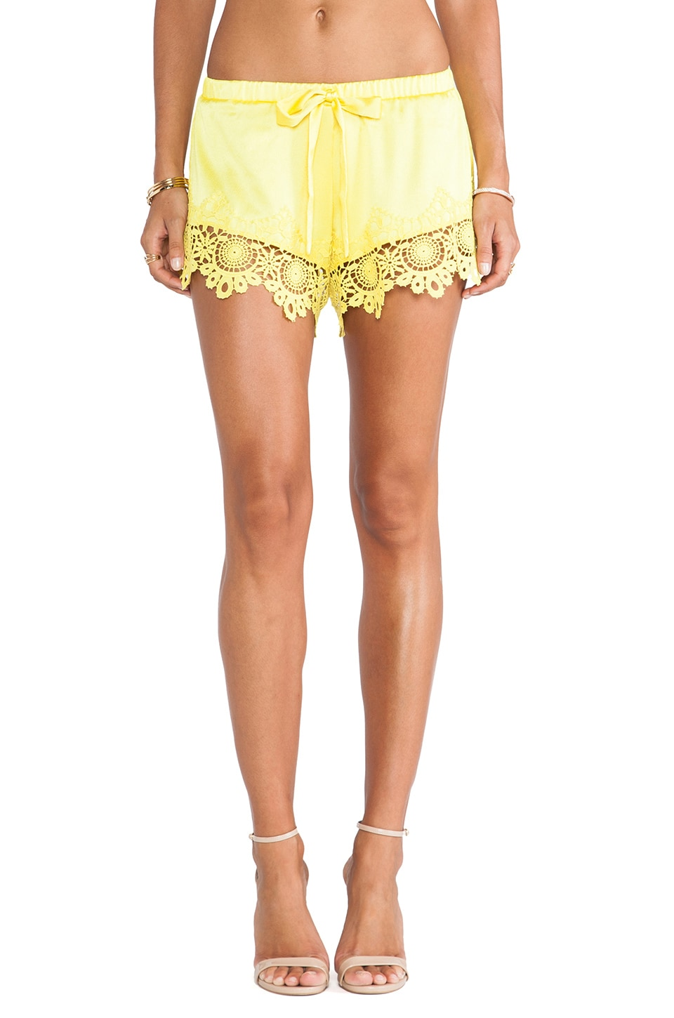 Alexis Gozo Crochet Trimmed Shorts in Wildflower Crochet