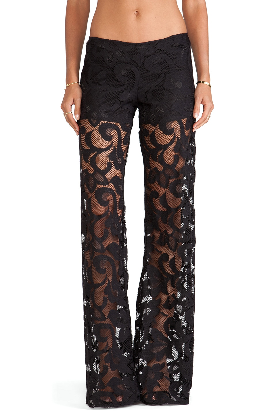 Alexis Andora Wide Leg Lace Pant in Black
