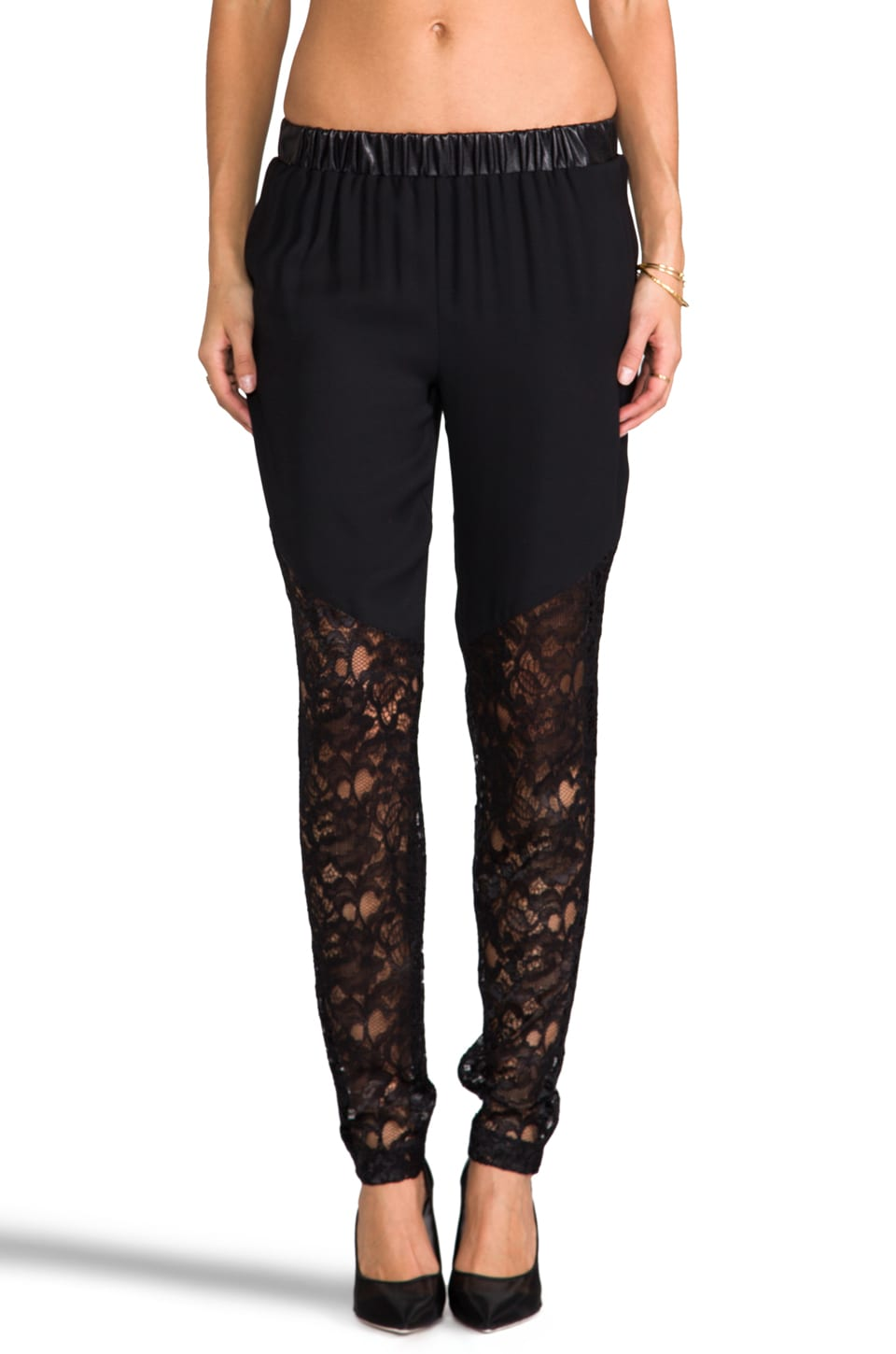 Alexis Edith Pants in Black Lace