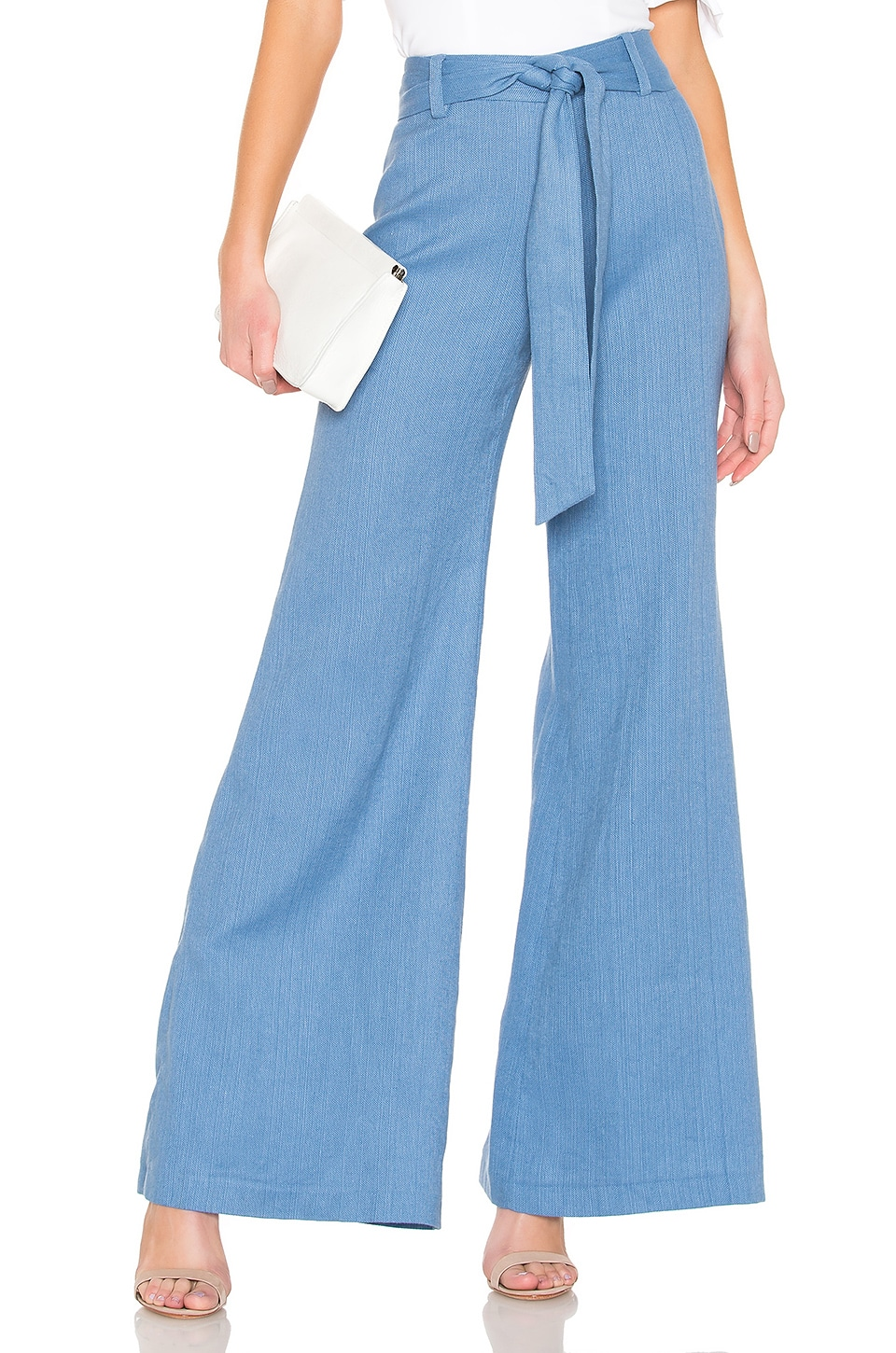 Alexis Alenka Pant in Shell Blue Linen