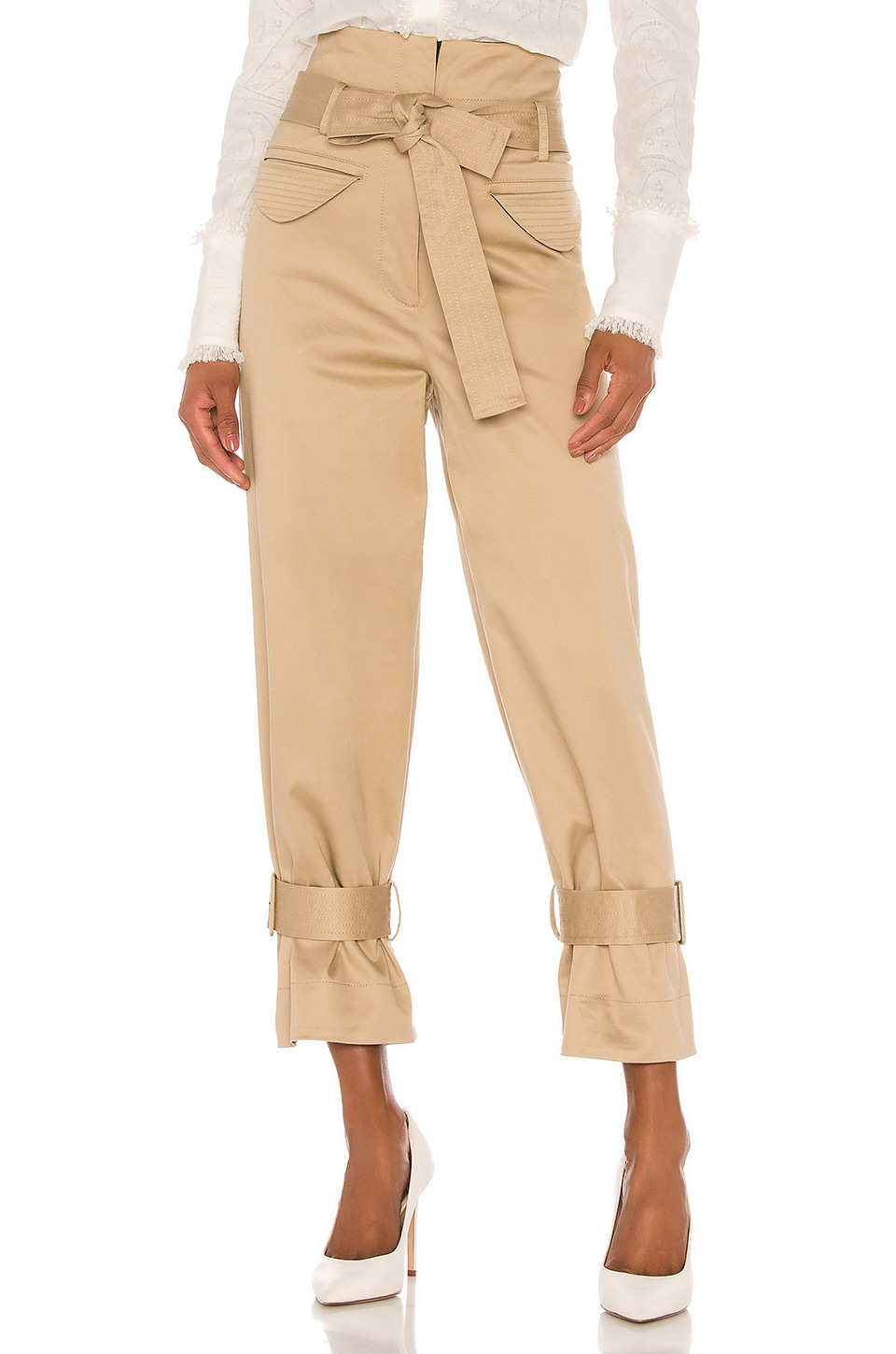 Alexis Vicente Pant in Tan