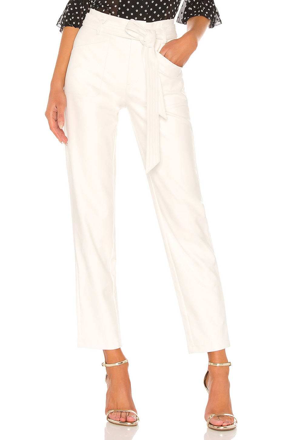 Alexis Castile Vegan Leather Pant in White