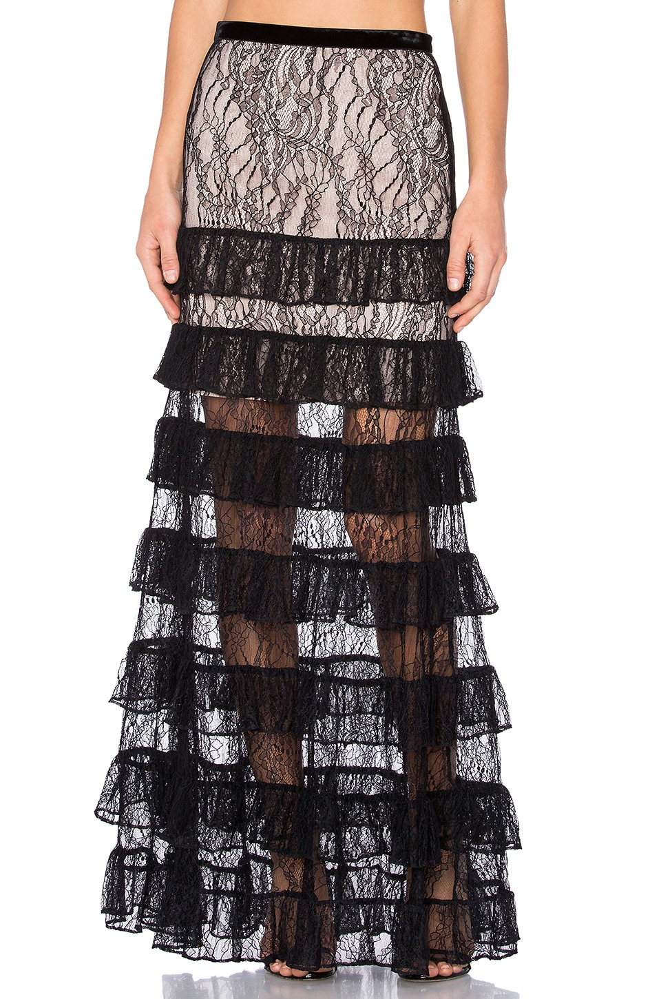 Alexis Vicky Skirt in Black Lace
