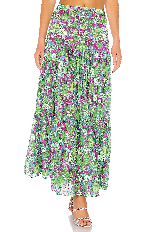 Alexis Grizelda Skirt in Purple Bouquet