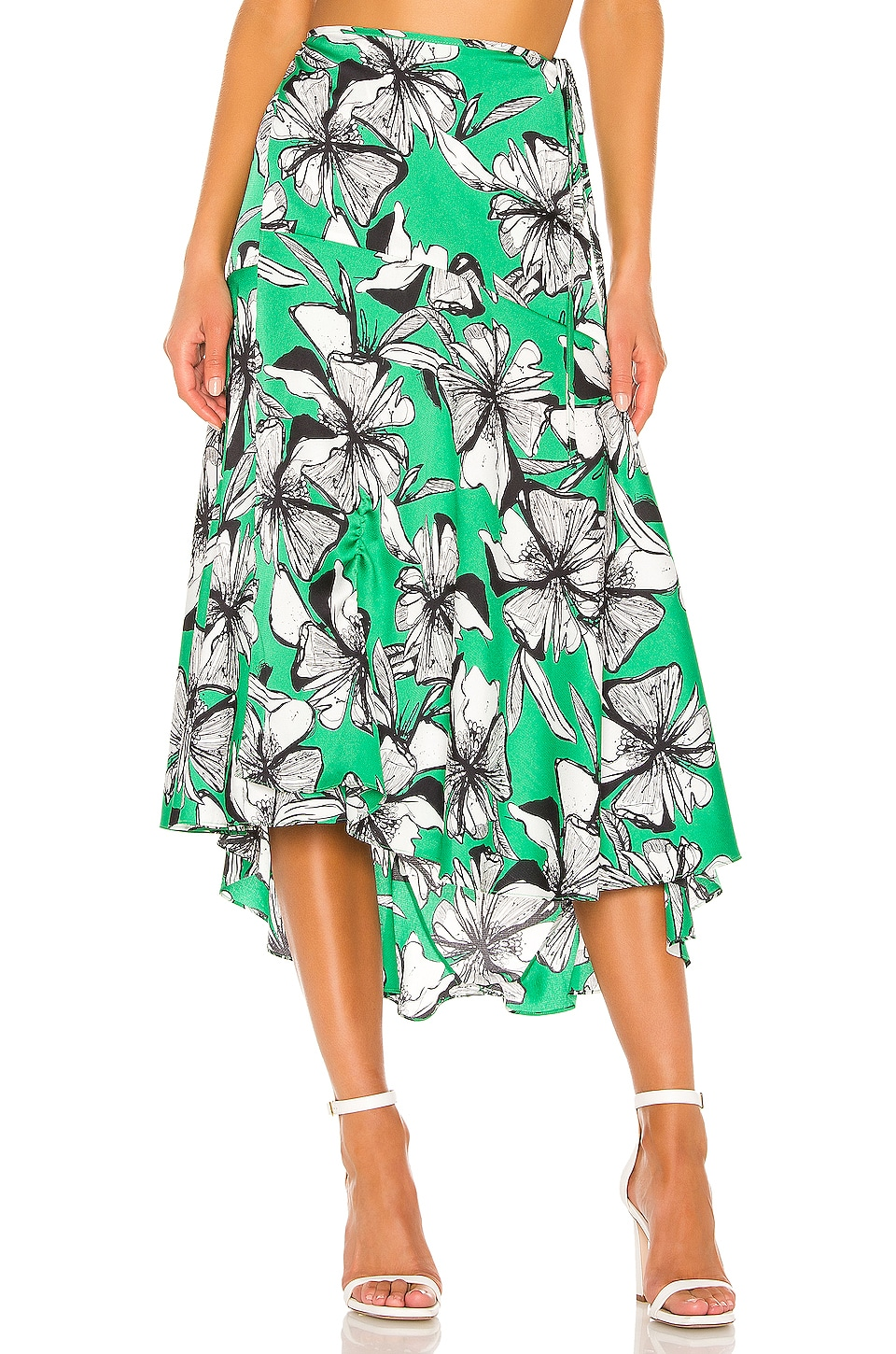 Alexis Lyons Skirt in Emerald Floral