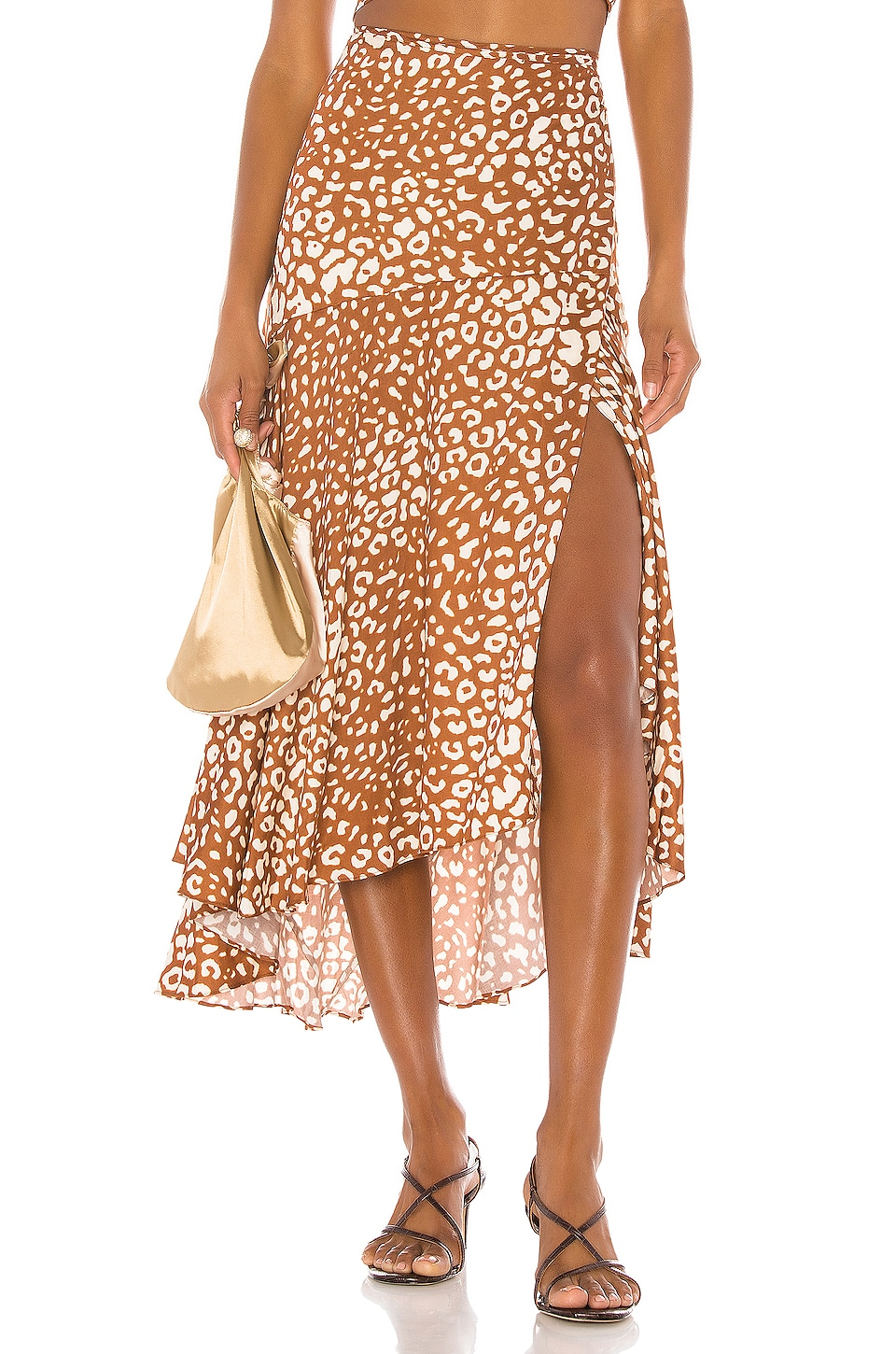 Alexis Fontaine Skirt in Sienna Leopard