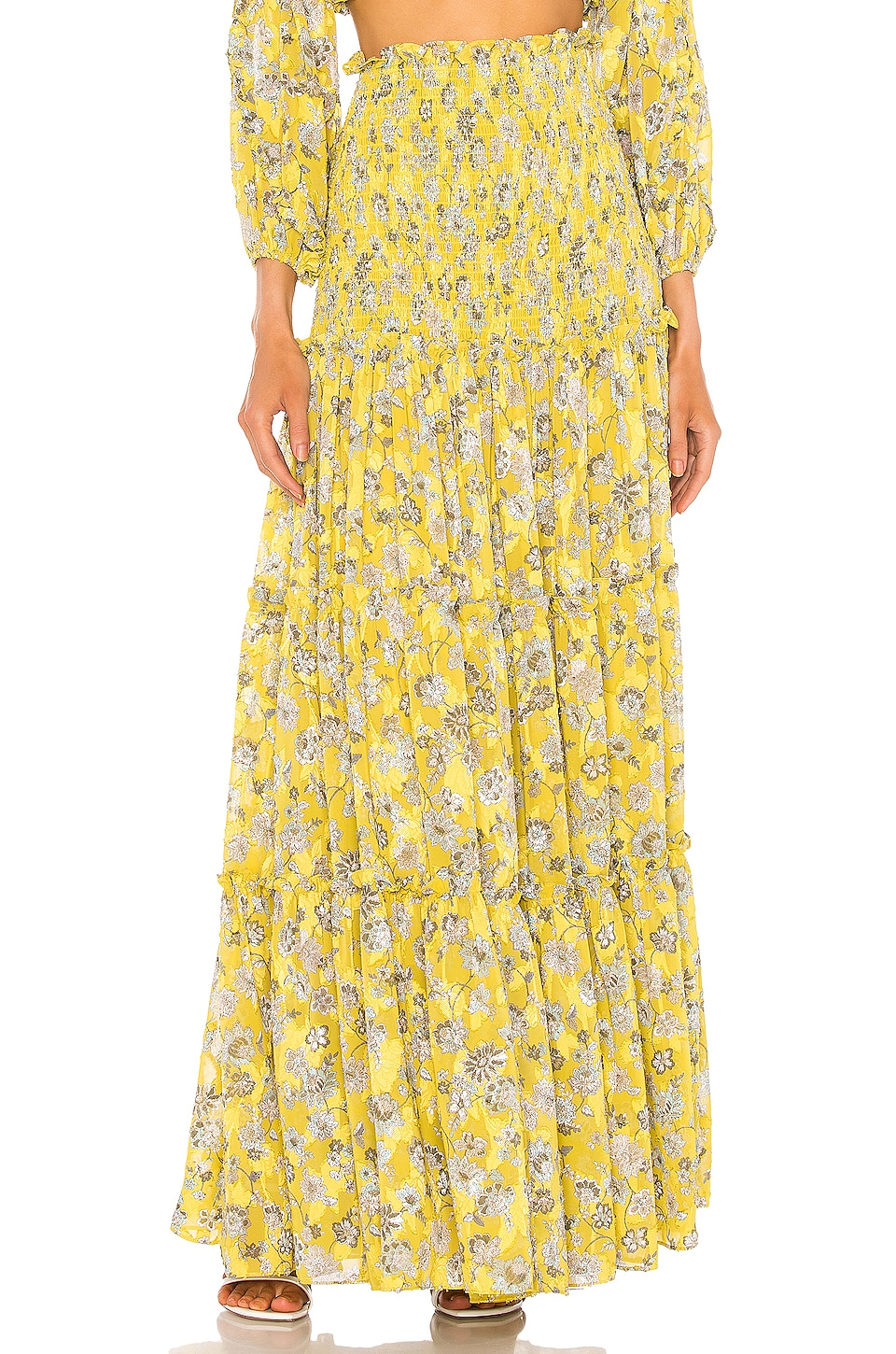 Alexis Galarza Skirt in Citron Floral