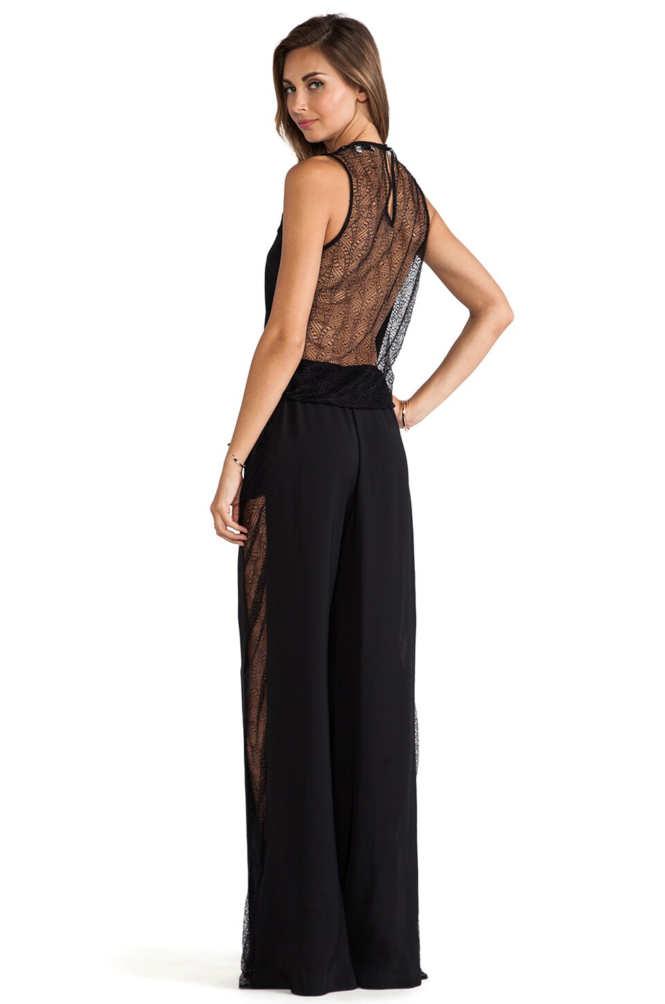 Alexis Kenzia Lace Jumpsuit in Black