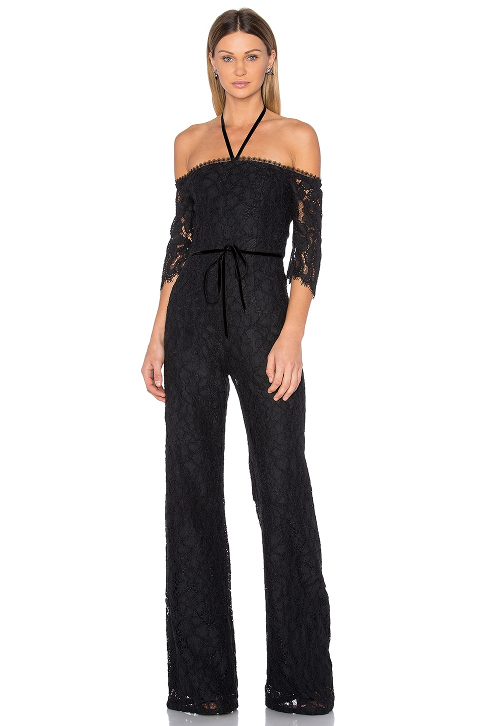 Alexis Joaquin Jumpsuit in Black Lace