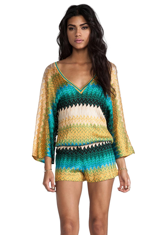 Alexis Marley B Romper in Geometric Knit
