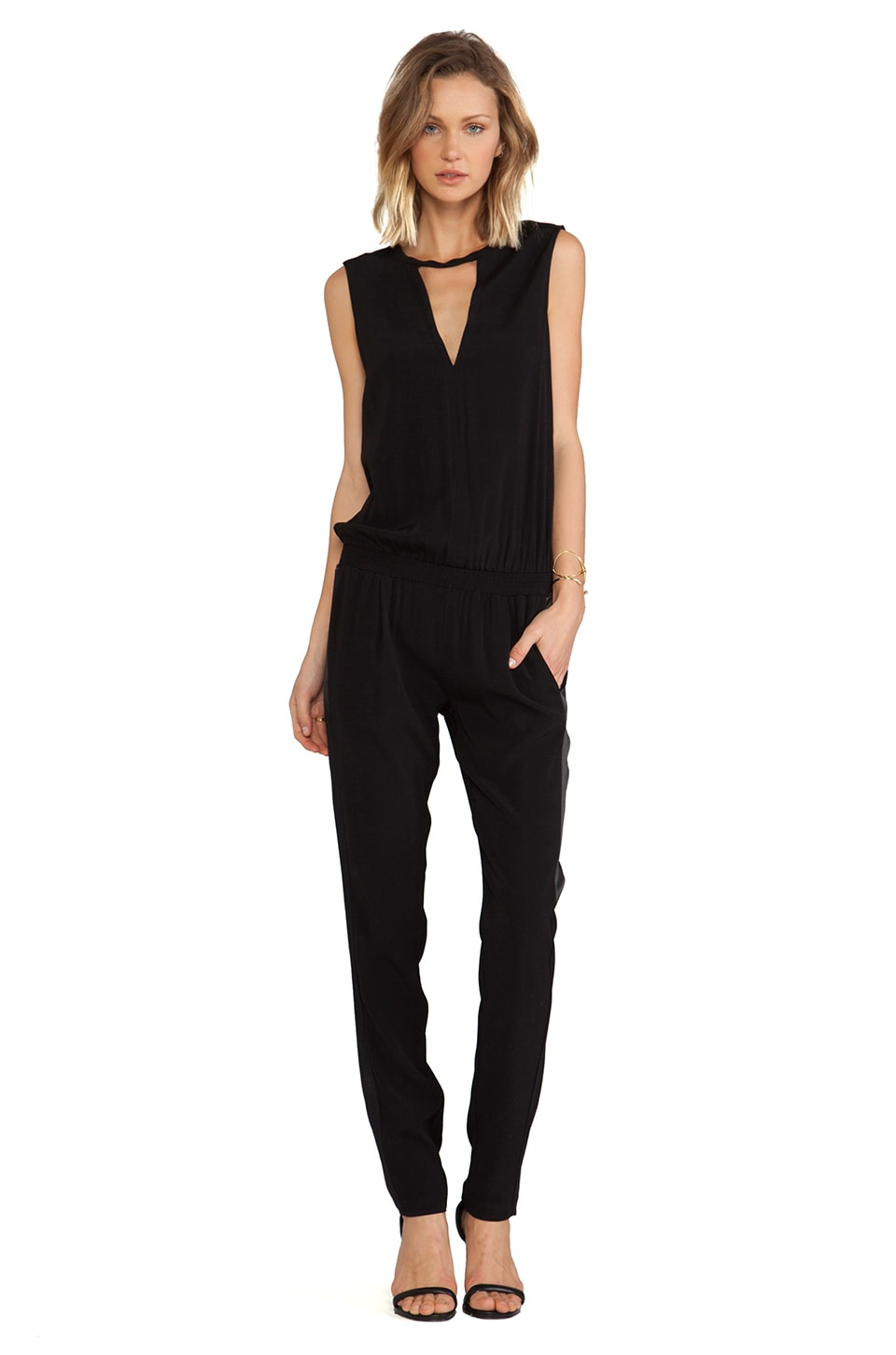 Alexis Zina V Neck Jumpsuit in Black
