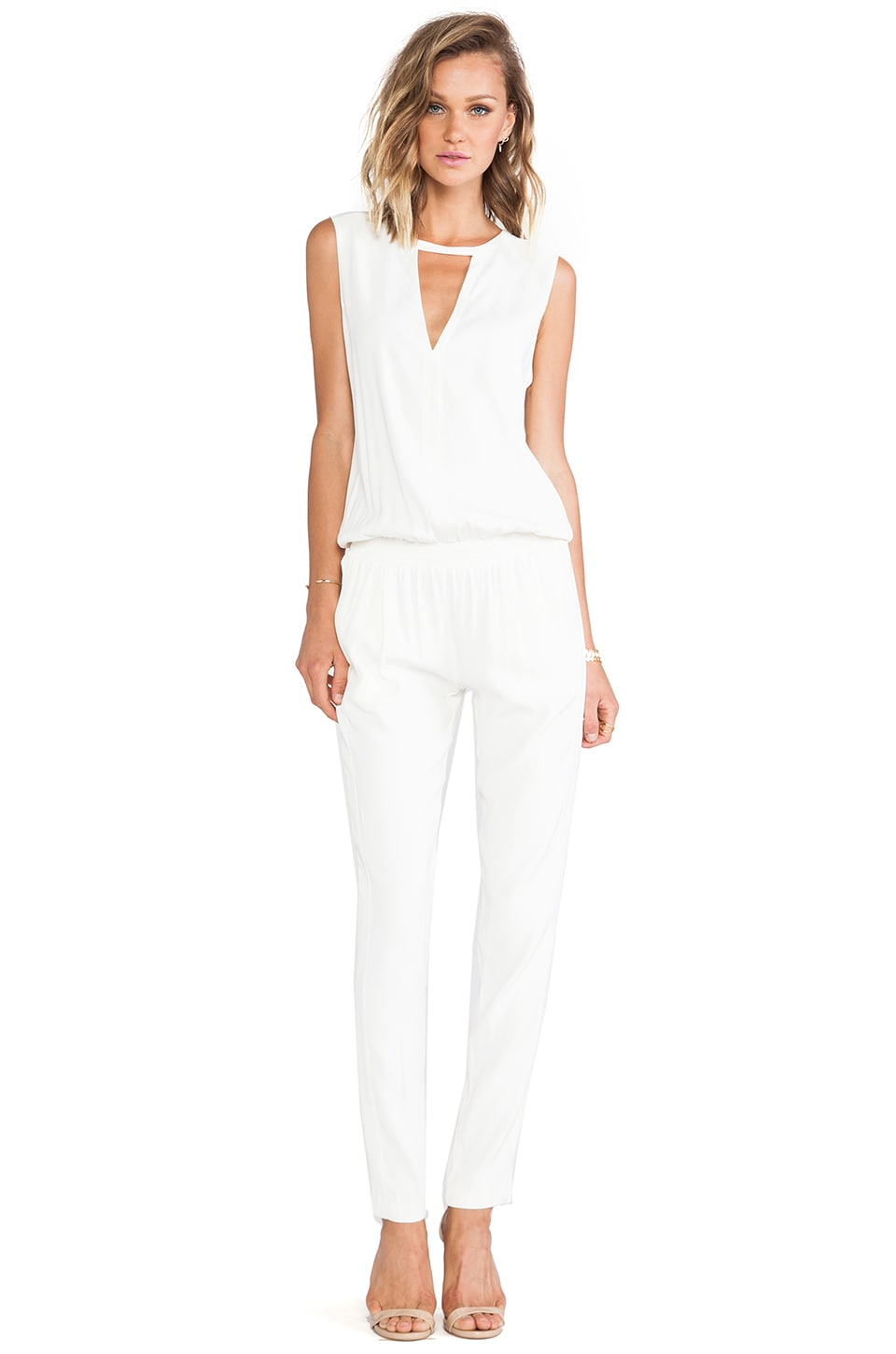Alexis Zina V Neck Jumpsuit in White