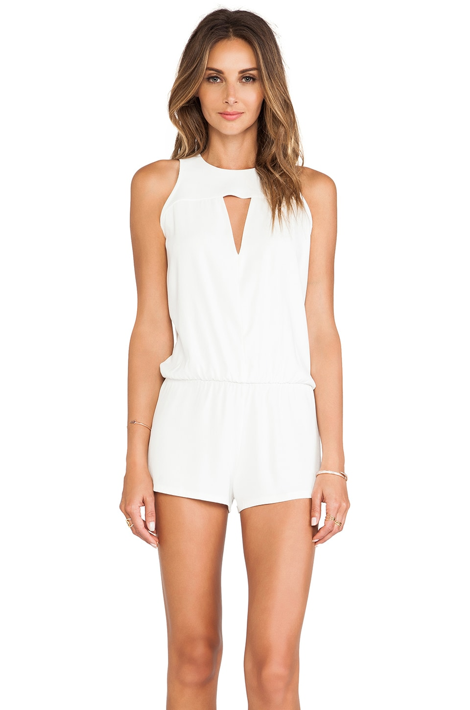 Alexis Dulcina Cut Out Romper in Blanc