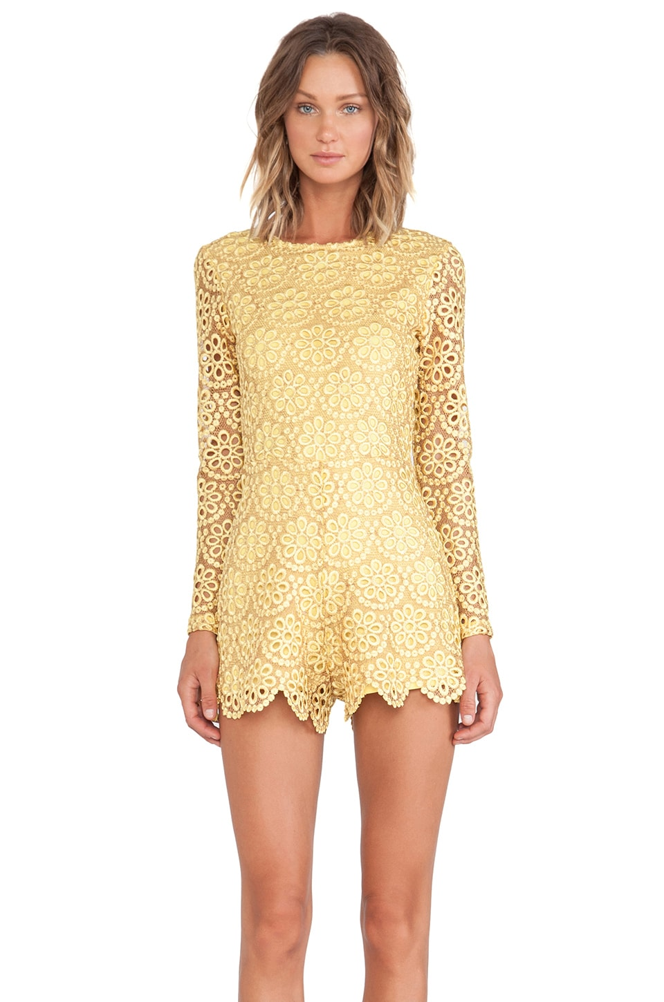 Alexis Izu Long Sleeve Romper in Floral Amber
