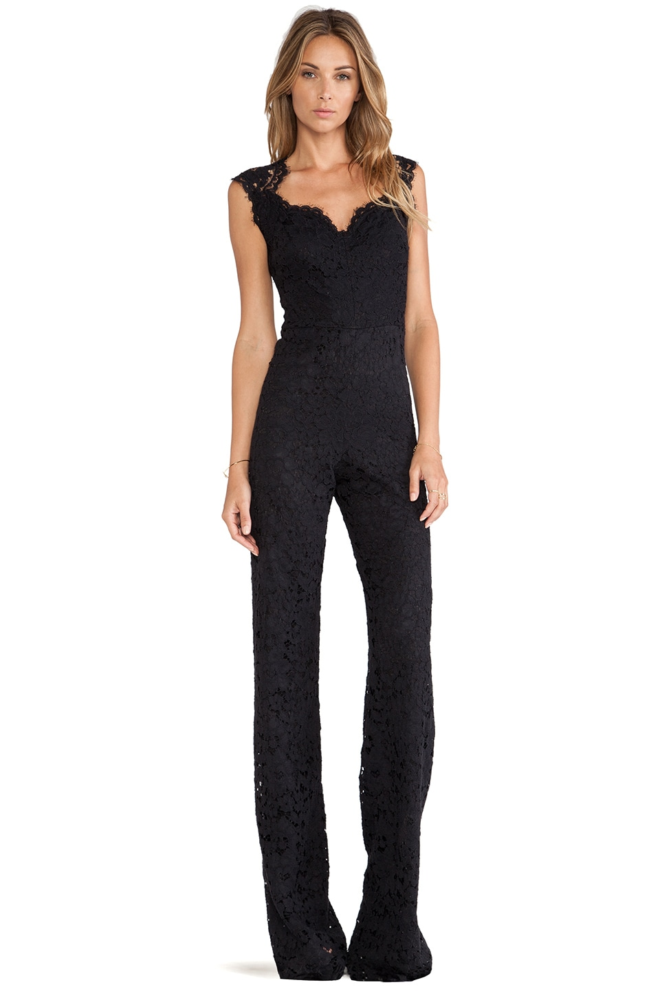 Alexis Aruba Lace Jumpsuit in Black Lace | REVOLVE