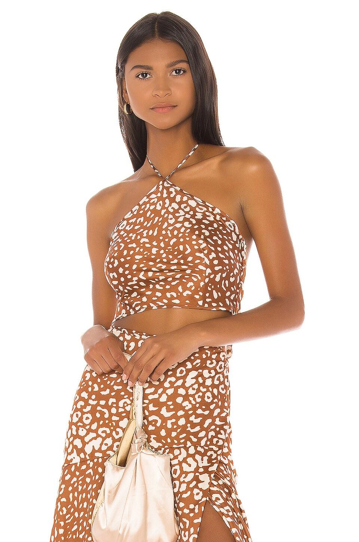 Alexis Izumi Top in Sienna Leopard