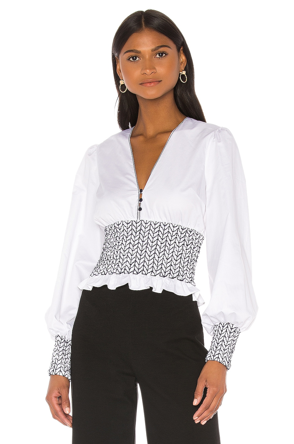 Alexis Davos Top in White