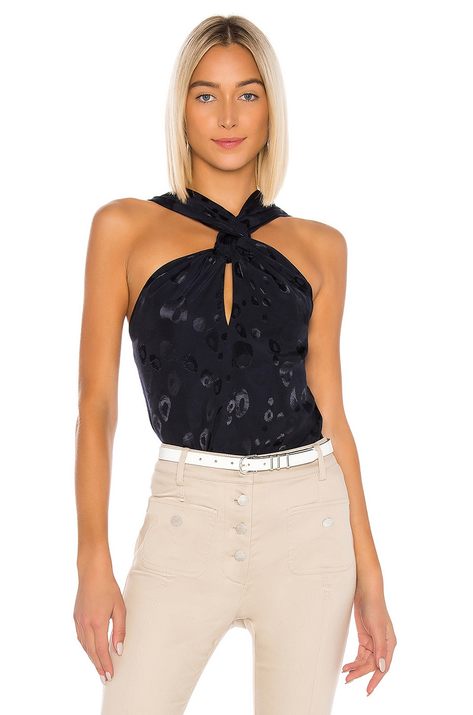 Alexis Kezia Top in Navy Blue Bengal