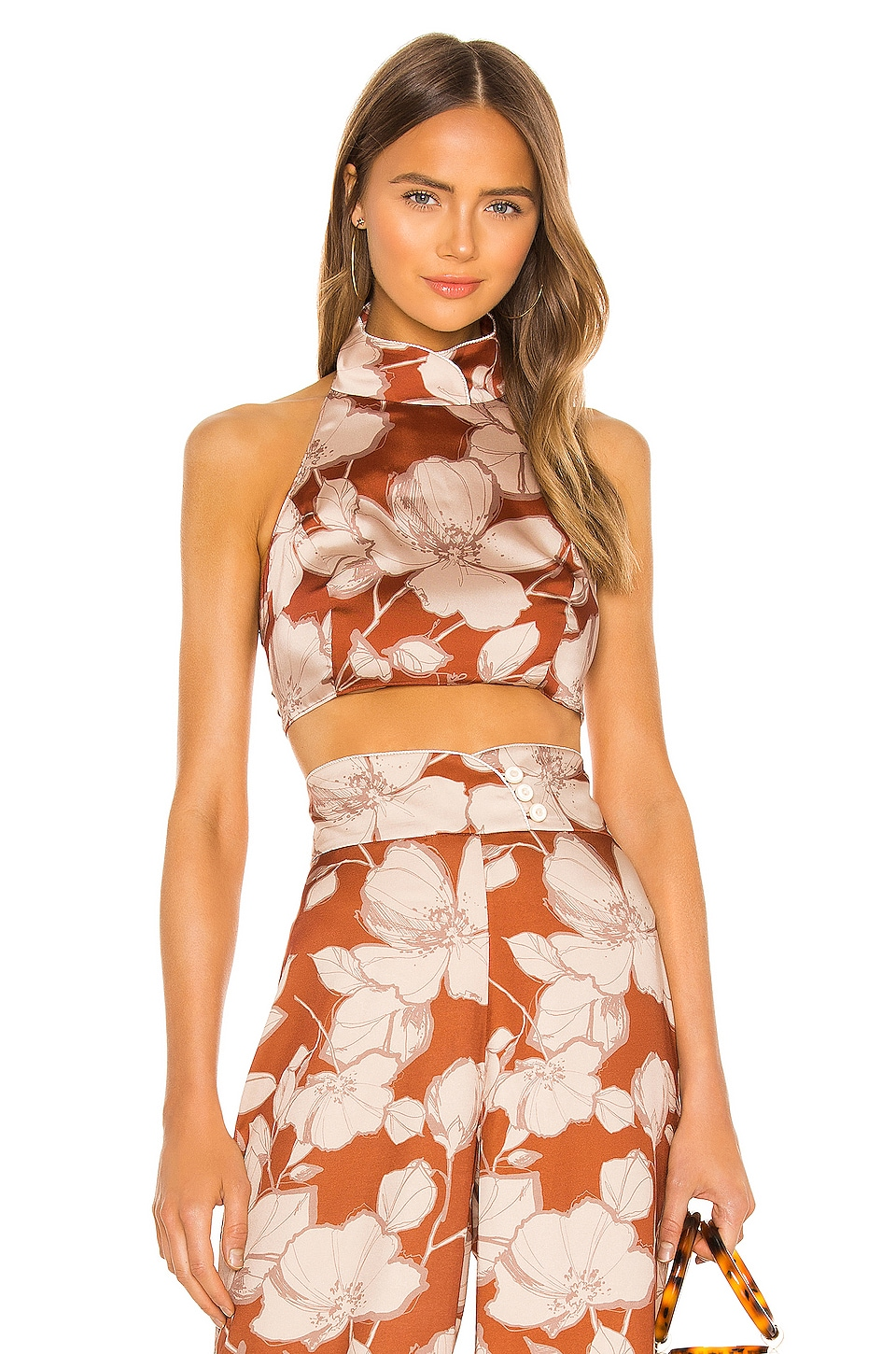 Alexis Bala Top in Sand Floral
