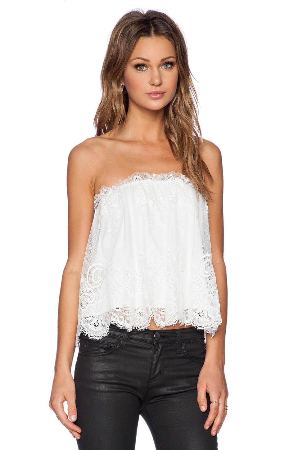 Lace Strapless Tops
