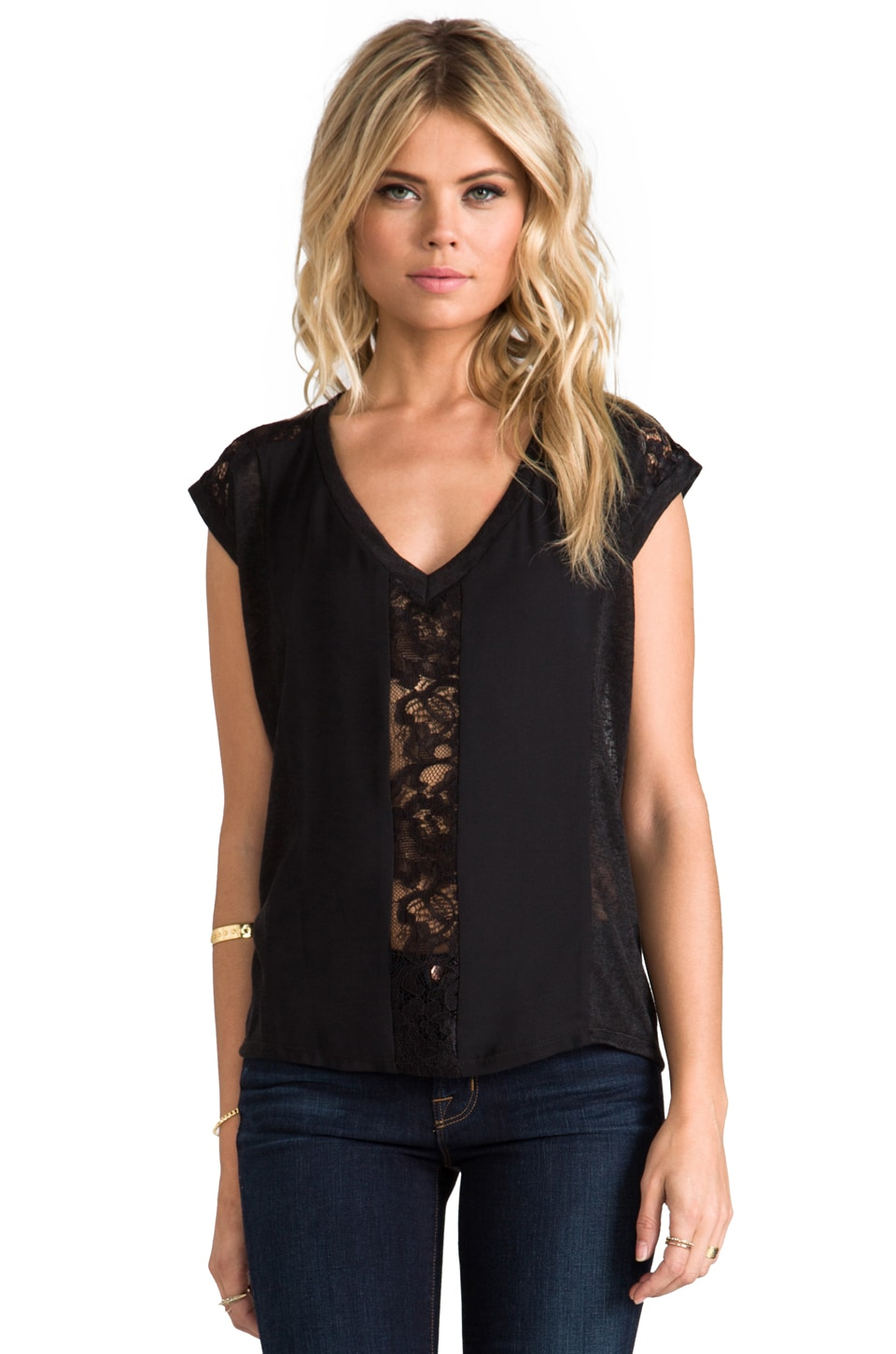 Alexis Nicoline Top in Black Lace