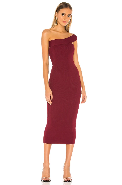 ALIX NYC Hanson Dress in Garnet
