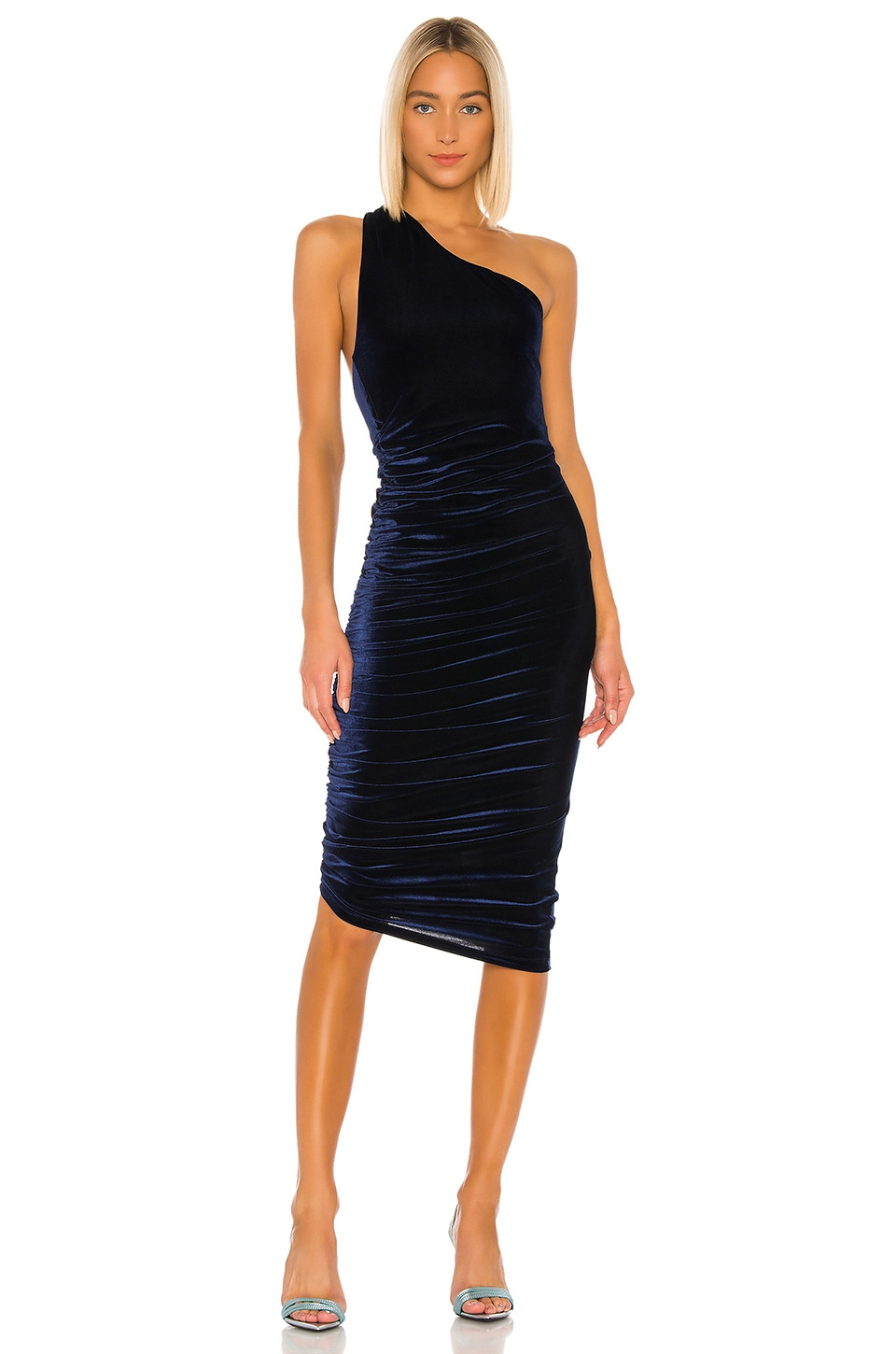 ALIX NYC Celeste Velvet Dress in Midnight