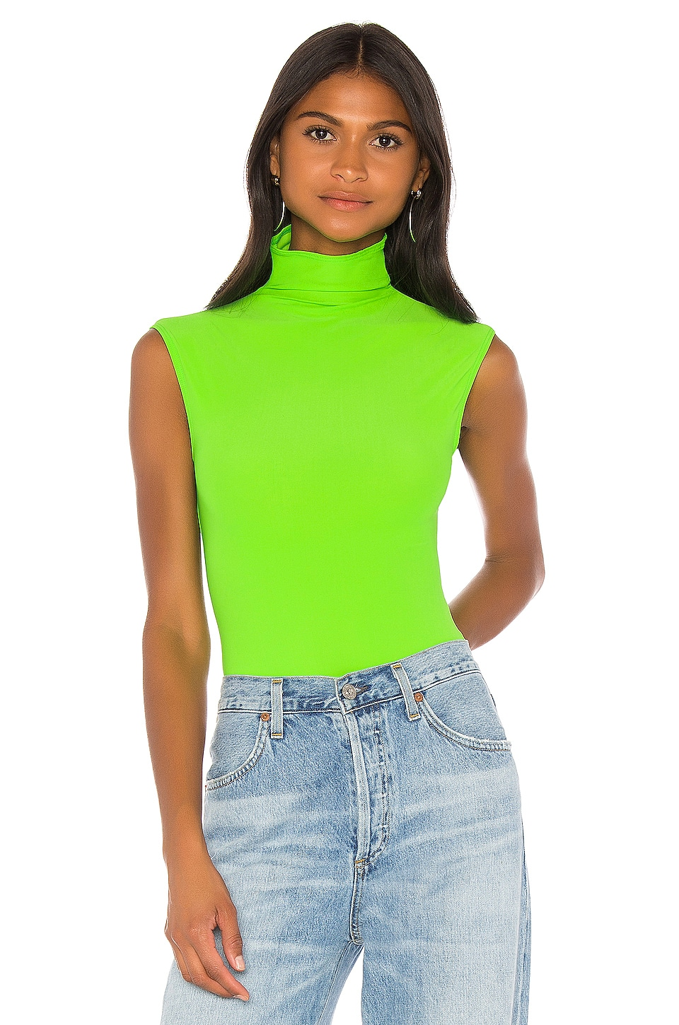 ALIX NYC Denton Bodysuit in Electric Green