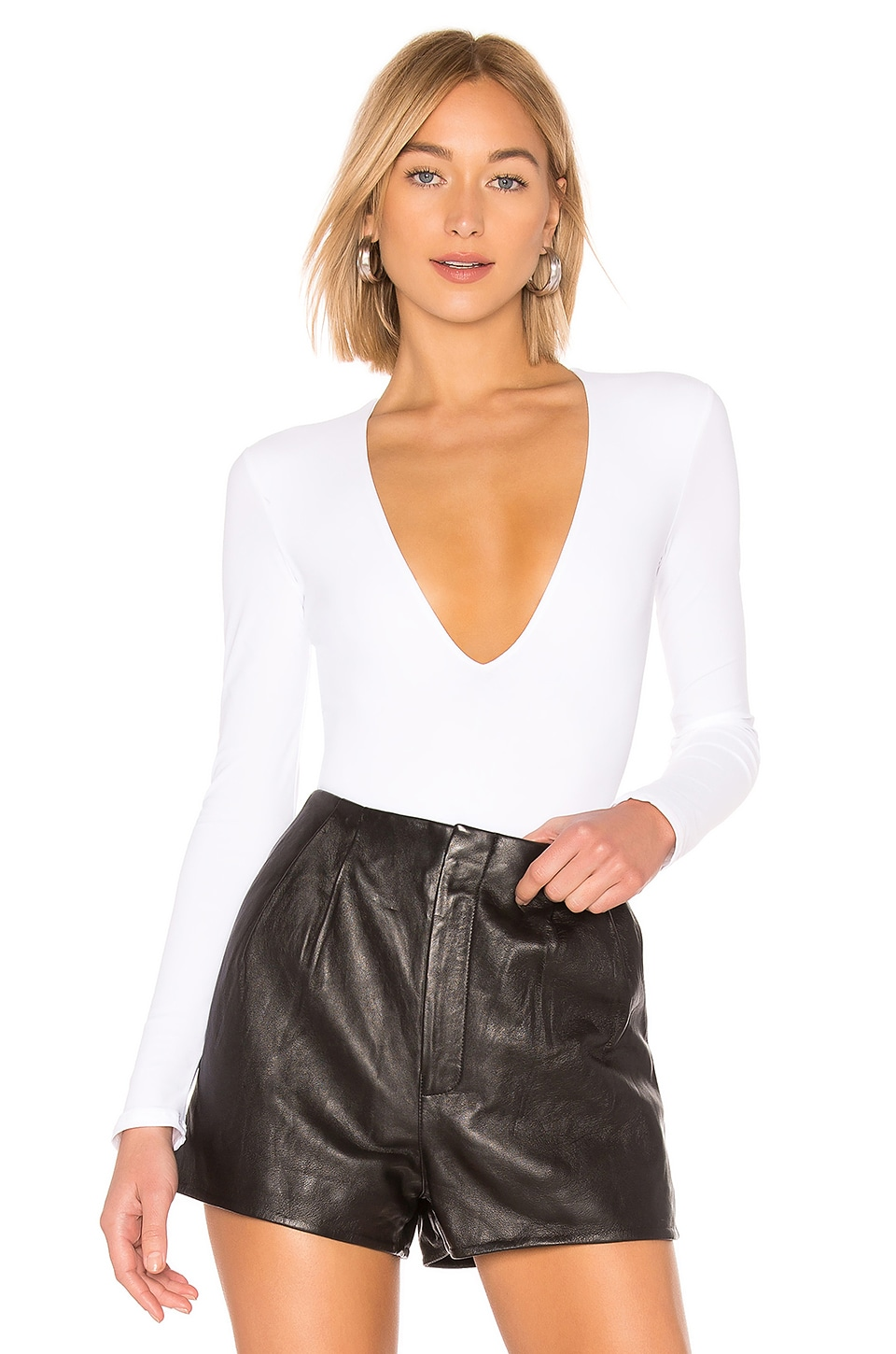 ALIX NYC Irving Bodysuit in White