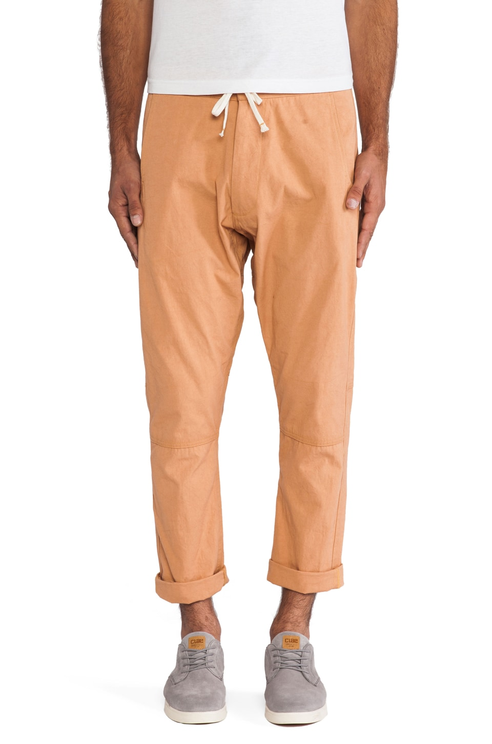 AXS Folk Technology Mountaineer Grunge Pant in Salmon