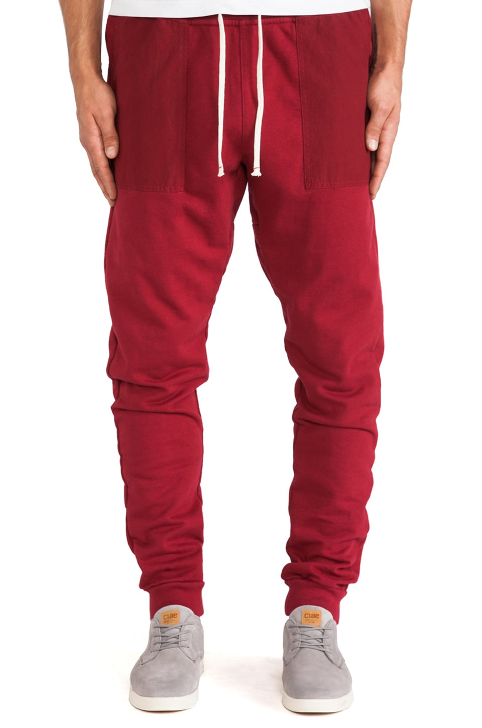 AXS Folk Technology AXS Sweat Cargo Pants in Deep Oxblood