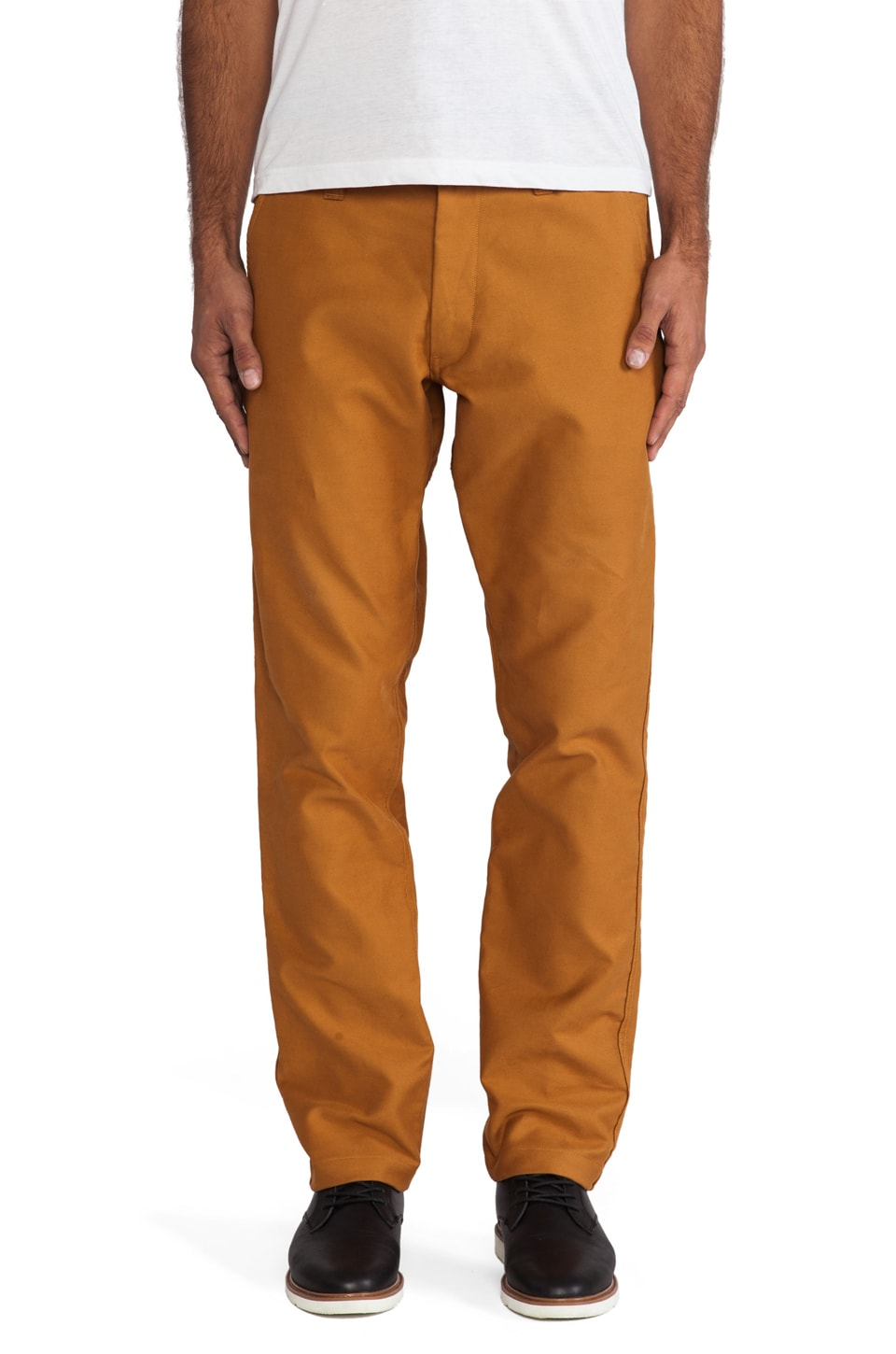 AXS Folk Technology Moleskin Chino in Golden Brown
