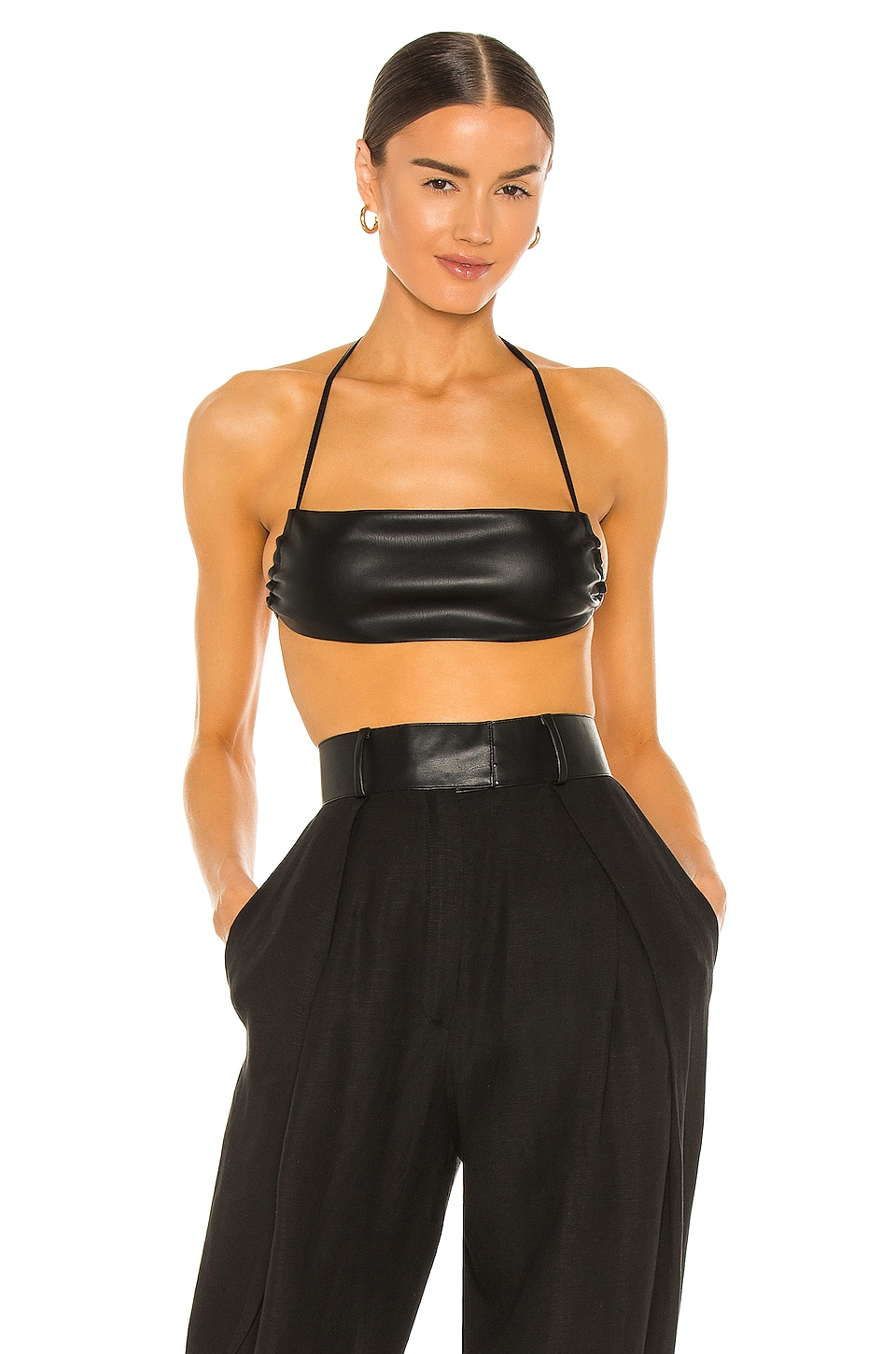 Aya Muse MIKA LEATHER TOP