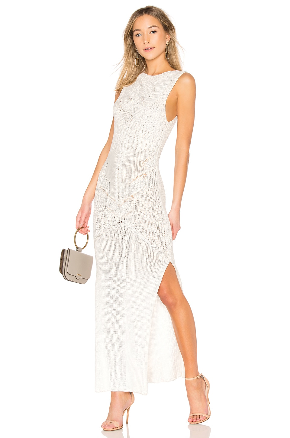 AYNI Paitina Cable Dress in Ivory