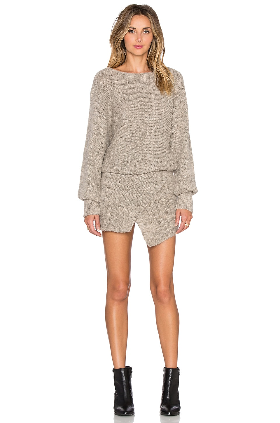 Lupuna Asymmetrical Sweater Dress