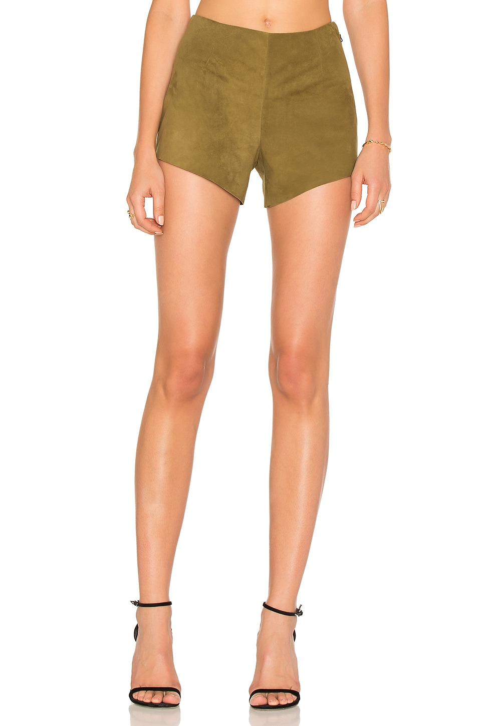 AYNI Quarzo Suede Short in Olive Green