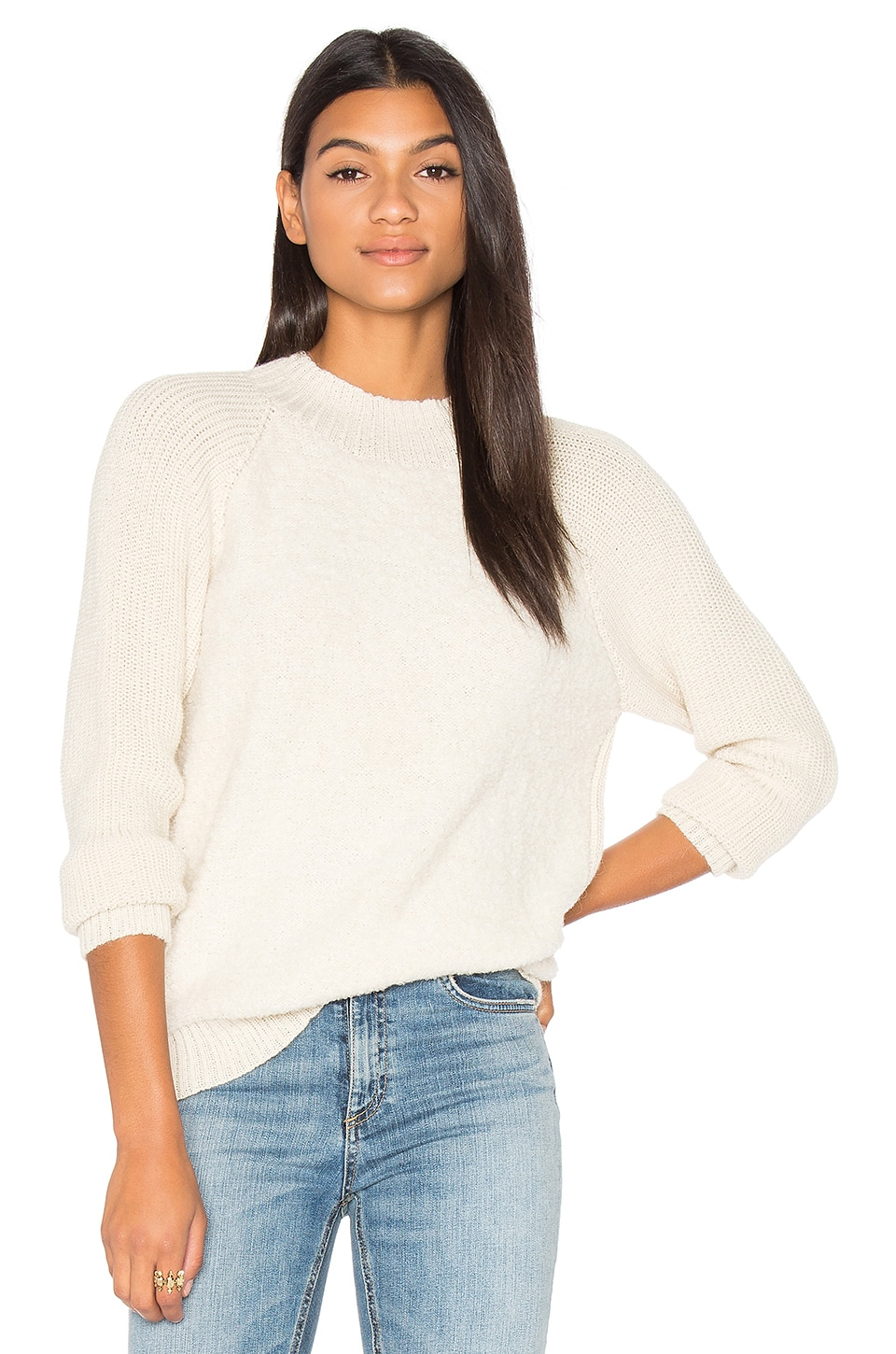 AYNI Alaya Crew Neck Sweater in Ivory