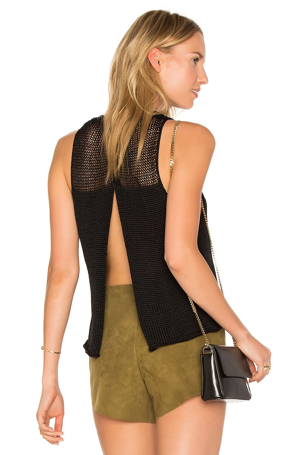 Huacura Crop Sleeveless Sweater by Ayni
