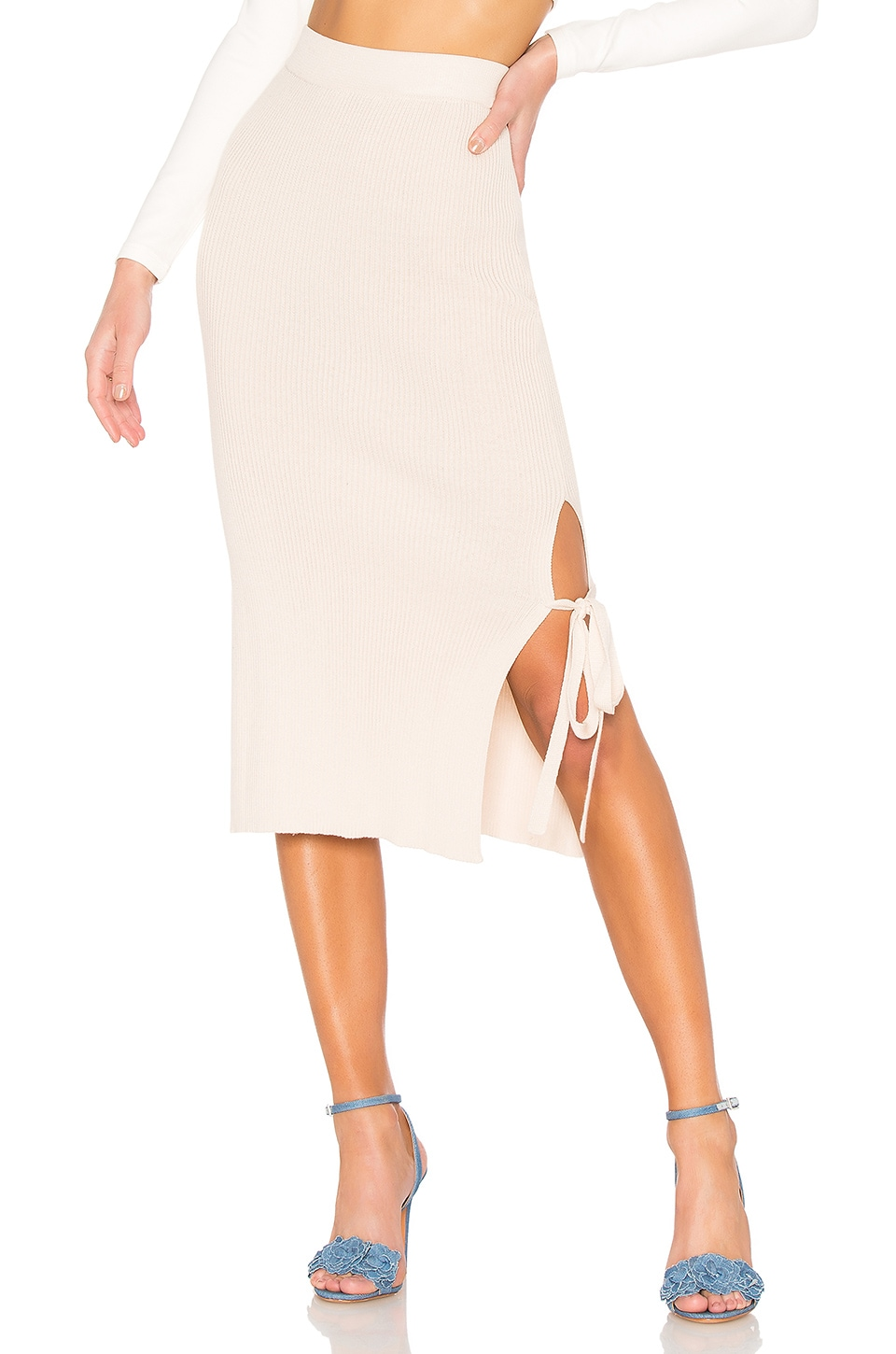 AYNI Lia Tie Skirt in Pale Pink