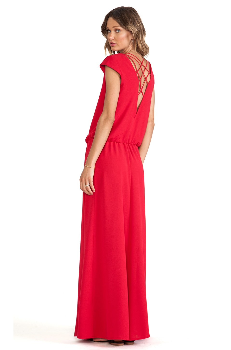 ba&sh Wolga Maxi Dress in Cherry