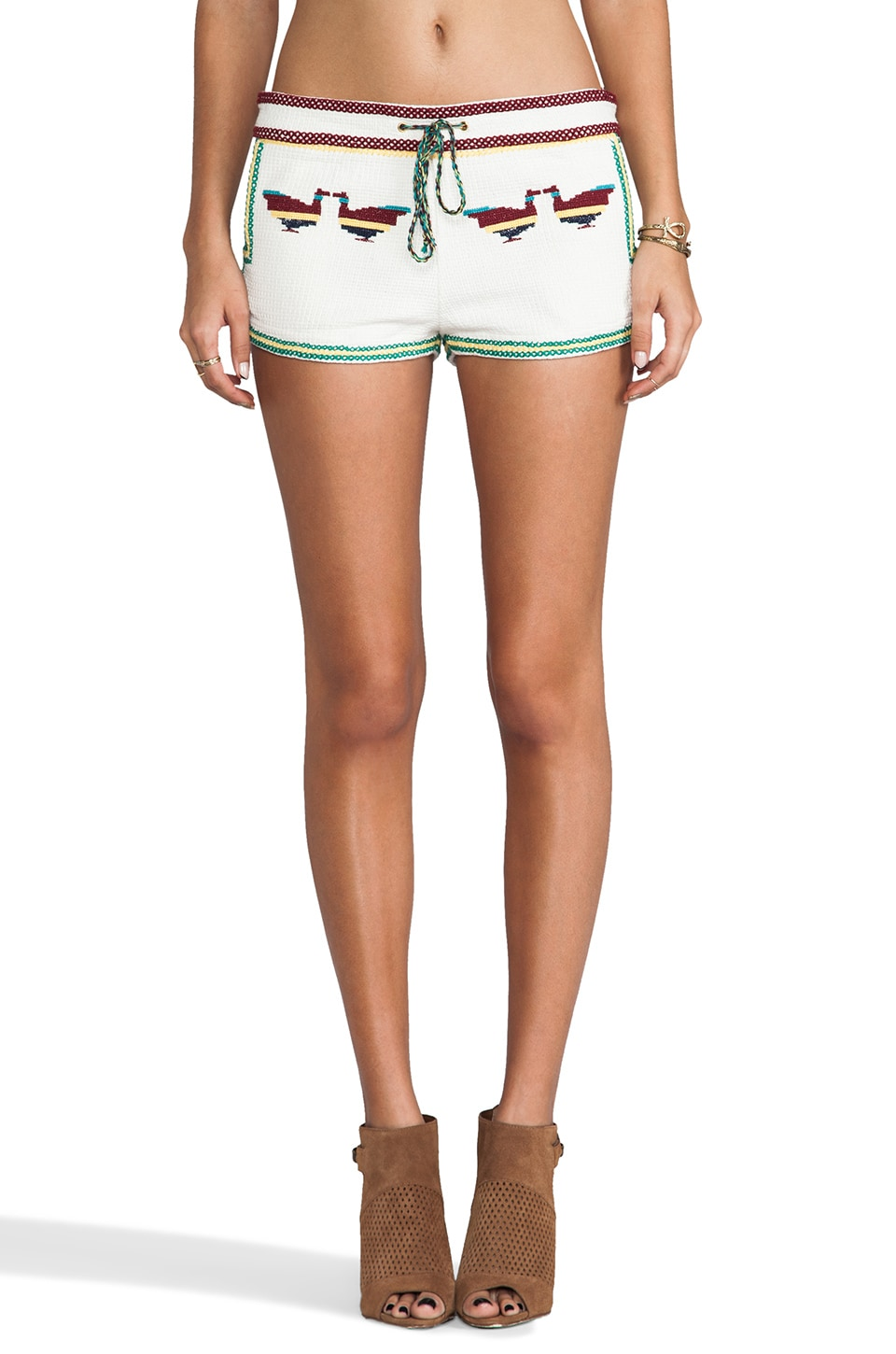 ba&sh Ciacova Tribal Print Shorts in Ecru