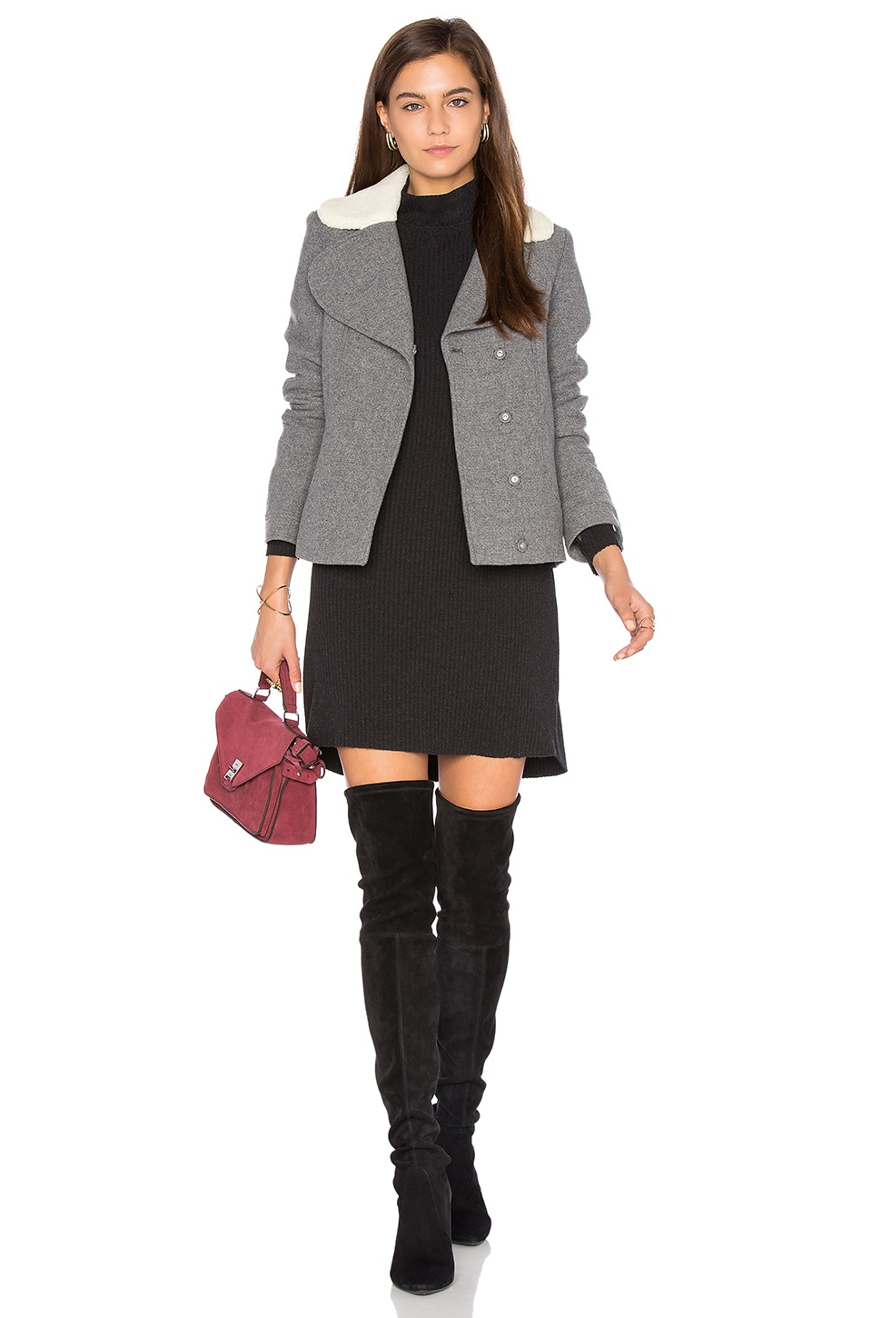 Leonor Faux Sherpa Lined Coat by ba&sh