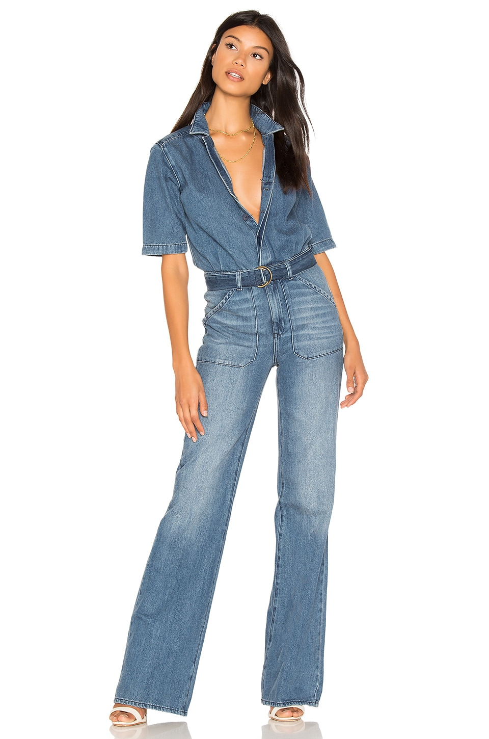 ba&sh Tao Jumpsuit in Blue Jeans