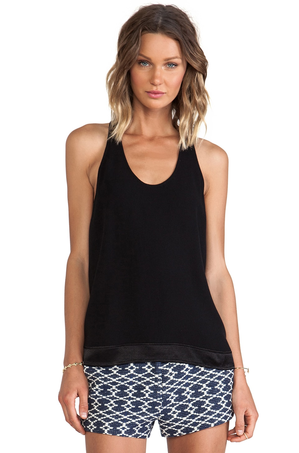 ba&sh Lisburn Racer Back Tank in Noir