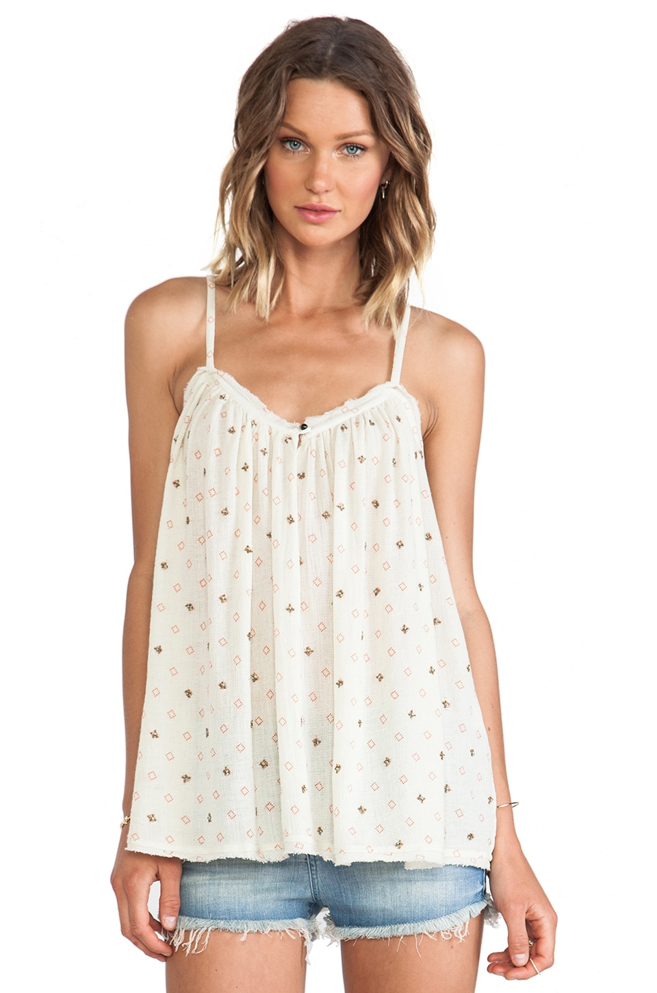 ba&sh Pharlow Embellished Tank in Print