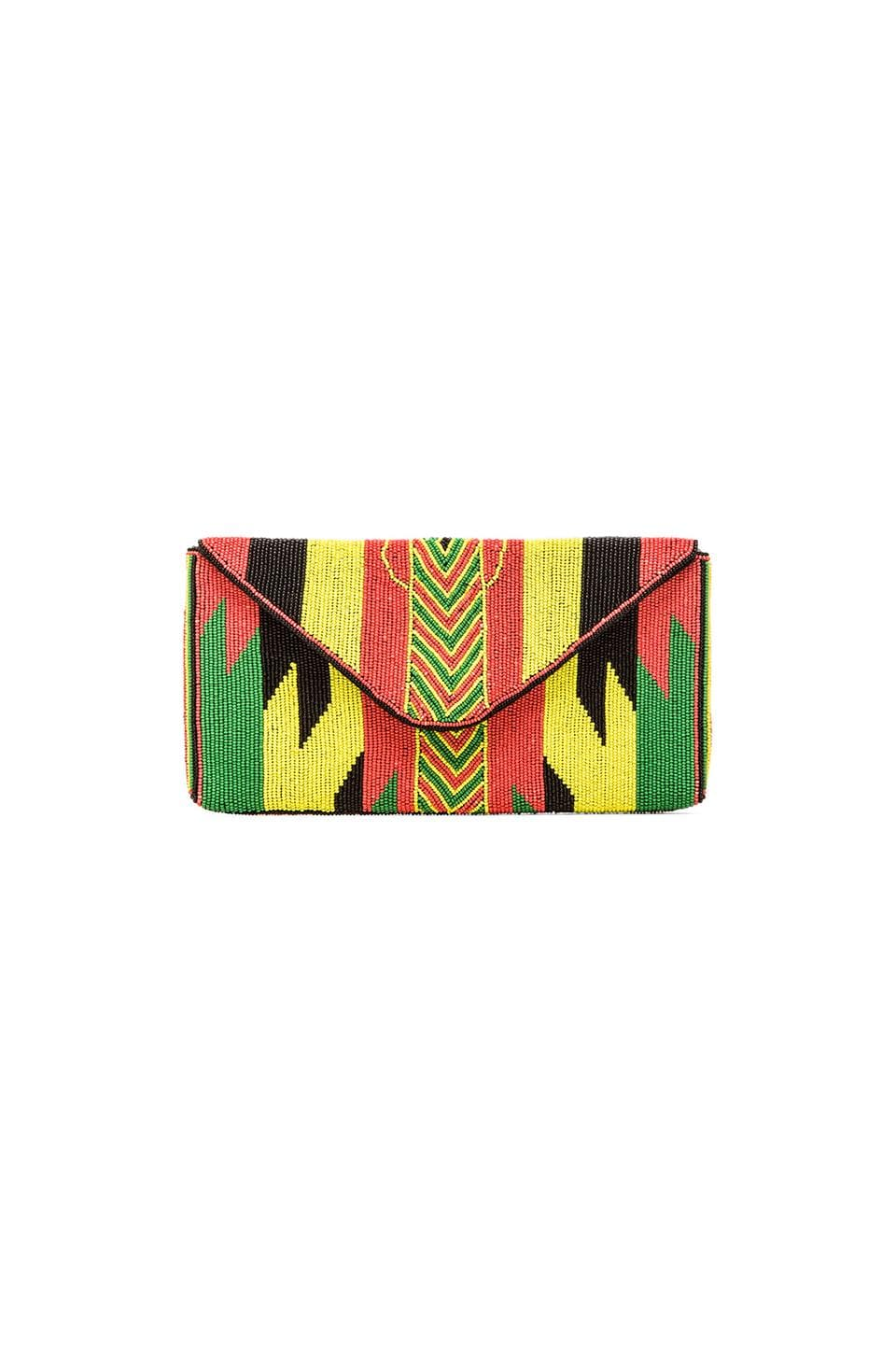 ba&sh Junon Clutch in Fluo