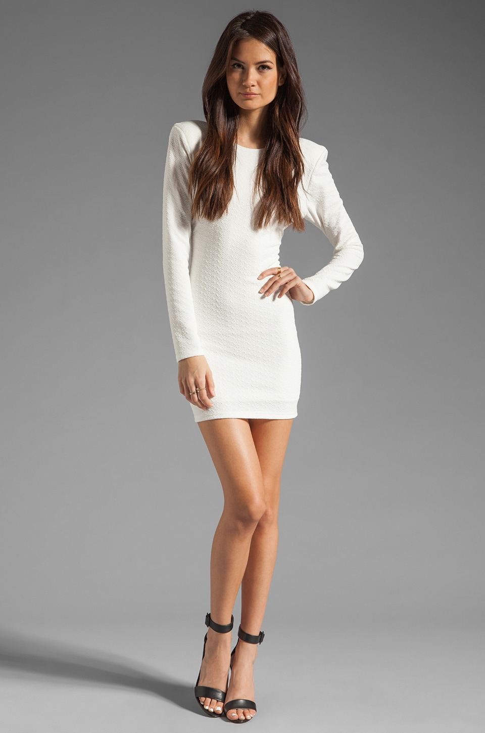 Backstage Long Sleeve Caroline Dress in Ivory