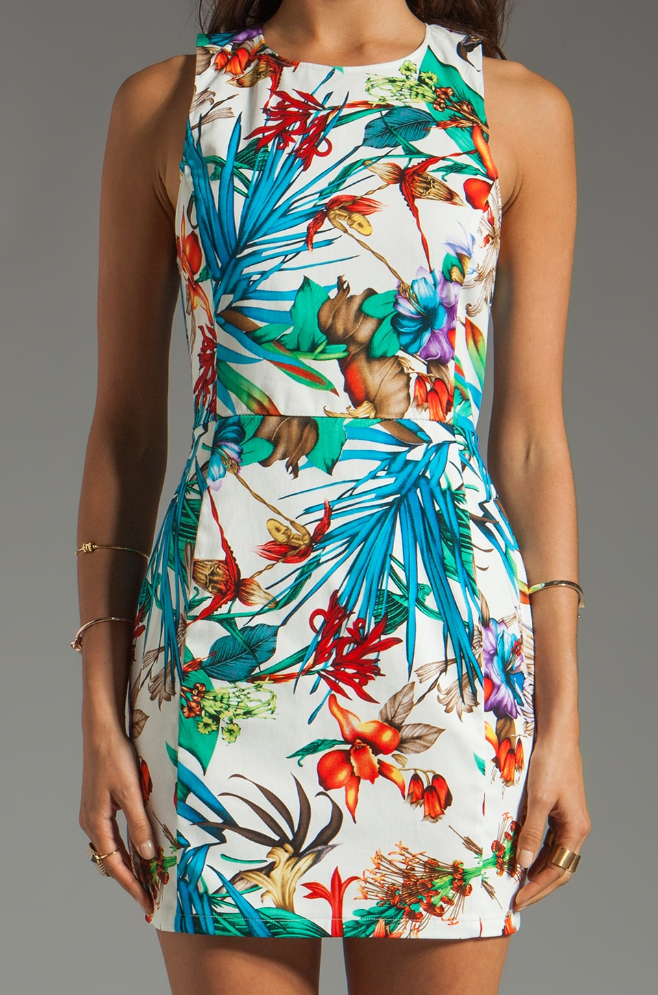 Backstage EXCLUSIVE Dana Tropical Dress in White