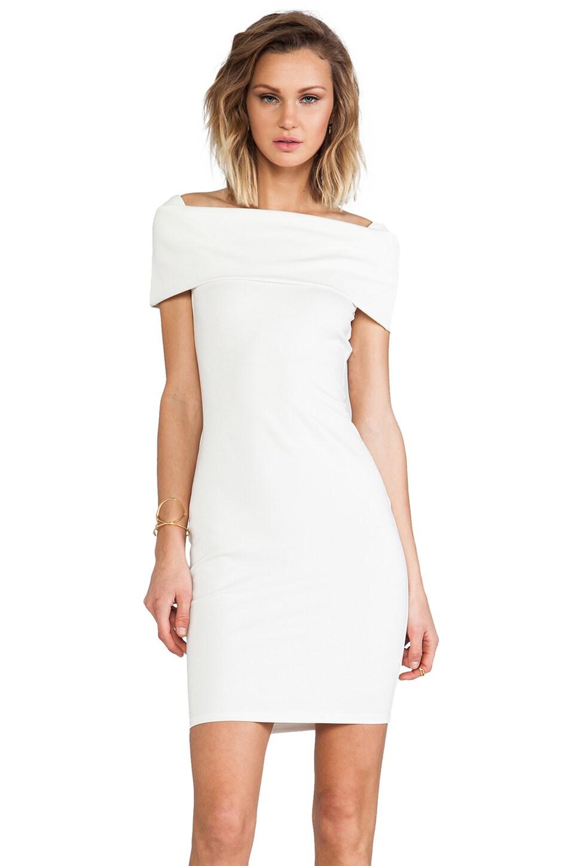 Backstage Karolina Off Shoulder Dress in Ivory